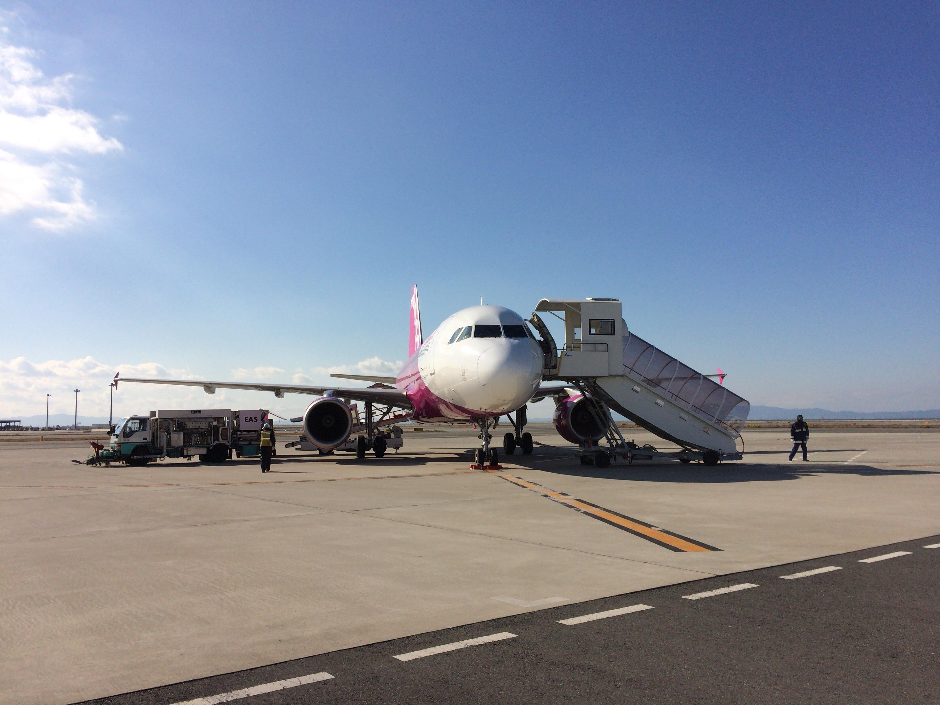 Peach Airplane